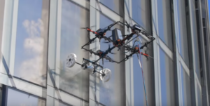 Drone cleaning windows.